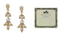 Downton Abbey Gold-Tone and Crystal Drop Earrings