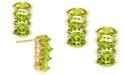 Macy's Peridot (4-3/8 ct. t.w.) & Diamond (1/10 ct. t.w.) Drop Earrings in 14k Gold