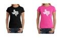 LA Pop Art Women's Word Art T-Shirt - Don'T Mess with Texas