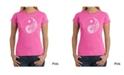 LA Pop Art Women's Word Art T-Shirt - Yin Yang
