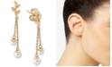 Majorica Gold-Plated Sterling Silver Imitation Pearl Dangle Drop Earrings
