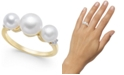 Macy's Cultured Freshwater Pearl (5mm - 7mm) & Diamond Accent Ring in 14k Gold