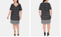 NY Collection Plus Size Printed Keyhole Dress