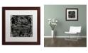 """Trademark Global Color Bakery 'Paris Bistro VI' Matted Framed Art - 16"""" x 16"""""""