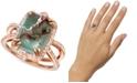 Le Vian Peacock Aquaprase (14 x 10mm) & Vanilla Topaz (1/3 ct. t.w.) Statement Ring in 14k Rose Gold