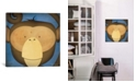 """iCanvas Monkey Wow by Ryan Fowler Gallery-Wrapped Canvas Print - 18"""" x 18"""" x 0.75"""""""