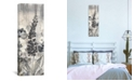 """iCanvas Crystal Raindrops Panel Iii, Black and White by Silvia Vassileva Gallery-Wrapped Canvas Print - 36"""" x 12"""" x 0.75"""""""