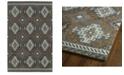 "Kaleen Global Inspirations GLB07-75 Gray 5' x 7'9"" Area Rug"