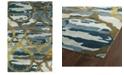 "Kaleen Brushstrokes BRS02-17 Blue 3'6"" x 5'6"" Area Rug"