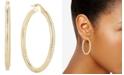 Italian Gold Textured Hoop Earrings in 14k Gold