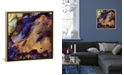"""iCanvas """"Purple and Gold Abstract"""" by Spacefrog Designs Gallery-Wrapped Canvas Print"""