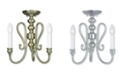 Livex CLOSEOUT!   Caldwell 3-Light Convertible Mini Chandelier/Ceiling Mount