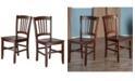 Winsome Madison 2-Piece Slat Back Chair Set