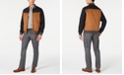 Tasso Elba Men's Herringbone Geo-Print Shirt, Colorblocked Faux-Leather Mix-Media Bomber Jacket & Stretch Drawstring Cargo Pants, Created for Macy's