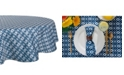 """Design Imports Ikat Outdoor Tablecloth 60"""" Round"""