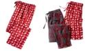 Club Room Men's Cocoa-Print Pajama Pants, Created for Macy's