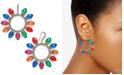 INC International Concepts INC Gold-Tone Pavé & Multicolor Lightbulb Wreath Drop Earrings, Created for Macy's