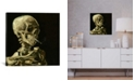 """iCanvas Head Of A Skeleton With A Burning Cigarette by Vincent Van Gogh Wrapped Canvas Print - 26"""" x 26"""""""