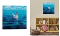 """iCanvas Chicken Of The Sea by Iris Scott Wrapped Canvas Print - 26"""" x 26"""""""