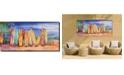 """West of the Wind Surfs Up Indoor/Outdoor Art, 48"""" x 24"""""""