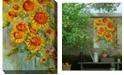 "West of the Wind Hearts and Flowers Indoor/Outdoor Art, 30"" x 40"""