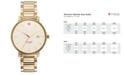 kate spade new york Watch, Women's Gramercy Grand Gold-Tone Stainless Steel Bracelet 38mm 1YRU0009