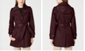 London Fog Hooded Double Collar Belted Raincoat, Created for Macy's