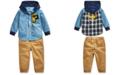Polo Ralph Lauren Baby Boys Hooded Chambray Shirt & Cargo Pants
