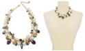 "Charter Club Gold-Tone Imitation Pearl, Flower Coin & Bead Statement Necklace, 17"" + 2"" extender, Created For Macy's"