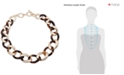 """Lauren Ralph Lauren Gold-Tone & Tortoise-Look Link 18"""" Collar Necklace"""