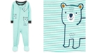 Carter's Toddler Boys 1-Pc. Striped Bear Footed Pajamas