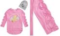Belle Du Jour Big Girls 2-Pc. Sequined Unicorn Bow Sweatshirt & Beanie Set