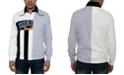 Sean John Men's Varsity Split Polo Shirt
