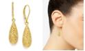 Giani Bernini 18k Gold over Sterling Silver Earrings, Diamond-Cut Teardrop Leverback Earrings