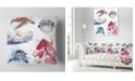 "Design Art Designart Amazing Undersea Life Collage Contemporary Animal Throw Pillow - 16"" X 16"""