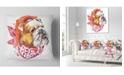 "Design Art Designart Forever Friends Funny Dog Animal Throw Pillow - 16"" X 16"""