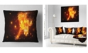 "Design Art Designart Abstract Running Fire Horse Animal Throw Pillow - 18"" X 18"""
