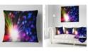 "Design Art Designart Multicolor Optical Fiber Lighting Abstract Throw Pillow - 16"" X 16"""