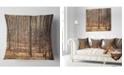 """Design Art Designart Thick Carpathian Deciduous Forest Forest Throw Pillow - 16"""" X 16"""""""
