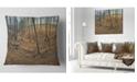 "Design Art Designart Woods In Fall Forest Panorama Forest Throw Pillow - 16"" X 16"""