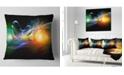 """Design Art Designart Waves Of Music Fractal Design Abstract Throw Pillow - 18"""" X 18"""""""