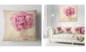 """Design Art Designart Bunch Of Peony Flowers On Table Floral Throw Pillow - 16"""" X 16"""""""