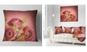 "Design Art Designart Ranunculus Flowers Stem On Pink Floral Throw Pillow - 16"" X 16"""