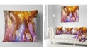 "Design Art Designart Colorful Precious Patterns Abstract Throw Pillow - 16"" X 16"""