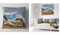 """Design Art Designart Whistler Mountain British Columbia Throw Pillow - 16"""" X 16"""""""