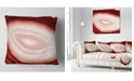 """Design Art Designart Agate With Chalcedony Geological Crystal Abstract Throw Pillow - 16"""" X 16"""""""