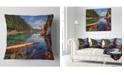 """Design Art Designart Floating Lake In Mountain Lake Landscape Printed Throw Pillow - 16"""" X 16"""""""