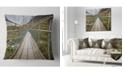 """Design Art Designart Bridge Over Hooker River In Aoraki Bridge Throw Pillow - 18"""" X 18"""""""