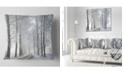 "Design Art Designart Winter Rural Road In The Morning Forest Throw Pillow - 18"" X 18"""