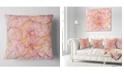 """Design Art Designart Mystic Pink Fractal Veins Abstract Throw Pillow - 18"""" X 18"""""""